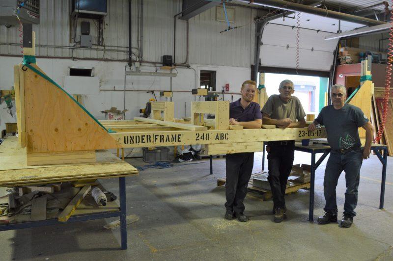 L'entreprise Millette et Fils se spécialise dans la fabrication de caissons d'emballage et en tournage de bois. (photo courtoisie Millette et Fils)