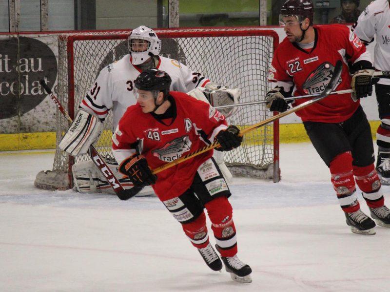 Le Trackvale affrontera les Bulls de Bedford lors de la demi-finale de la Ligue de hockey sénior du Richelieu. (photo Émilie Laliberté)