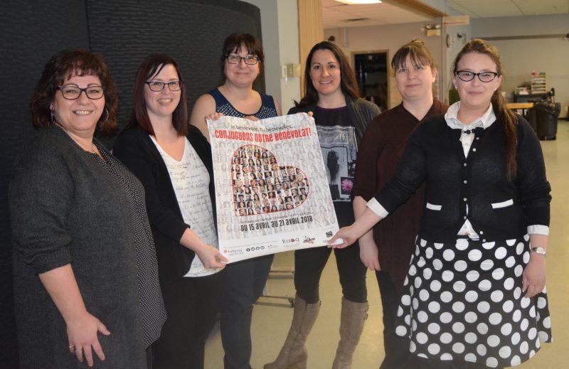 Dans le cadre de la Semaine de l'action bénévole, six organismes de la région ont partagé avec La Pensée des réflexions et commentaires sur le bénévolat. De gauche à droite: Dominique Fontaine (Maison de la Famille Valoise), Lysanne Collard (Centre de bénévolat d'Acton Vale), Carole Bessette (Centre Ressources-Femmes de la région d'Acton), Jacynthe Daigle (Association de la Sclérose en plaques Saint-Hyacinthe-Acton), Renée-Claude Paré (Association des parents des enfants handicapés Richelieu) et Chantal Lavallée (Parrainage civique des MRC d'Acton et des Maskoutains).
