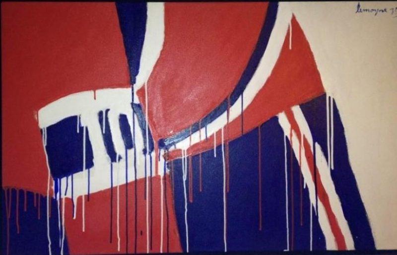 Un tableau de Serge Lemoyne, «No 10, Lafleur », sera en vente aux enchères de  BYDealers, demain soir à Toronto. Sa valeur est estimée entre 90 000 et 120 000 $.