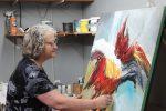 La peintre Denise Gazaille en vedette dans un magazine international