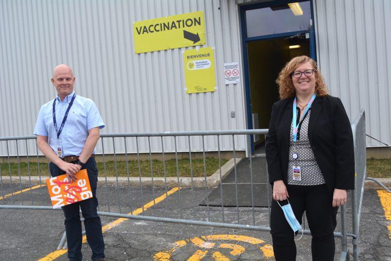 Le site de vaccination d'Acton Vale tourne à plein régime